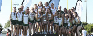 The Mountain Brook High School girls track and field team takes second place at state (2017).