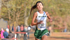 Mountain Brook High School senior Anna Grace Morgan won the 2016 Class 7A state cross-country title in a meet-record time.