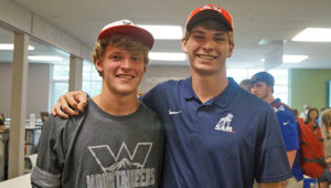 Mountain Brook High School seniors Brian Schmidt, left, and Warren Fitzpatrick will continue their track and field careers at Western State Colorado University and Samford University, respectively.
