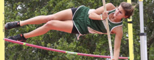 Sophie Jane Knott clears 10-6 in the 7A girls pole vault